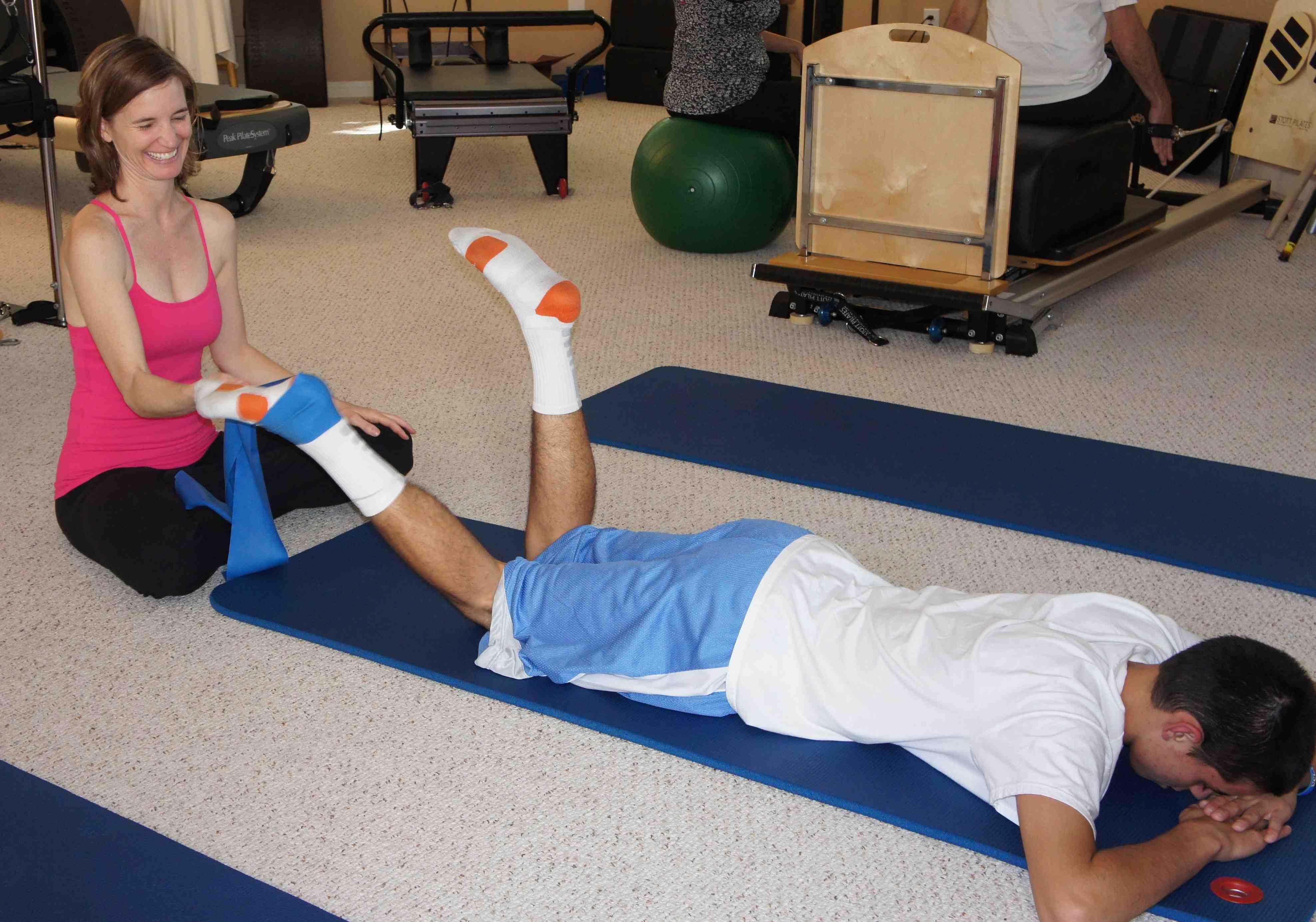 Pilates Exercises help Osgood Schlatter's Disease with Karena Thek
